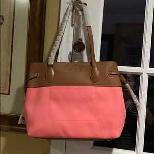 Michael kors coral marina tote new authentic